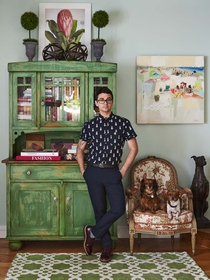 alec-hemer-photography-Christian-Siriano_portrait with dogs